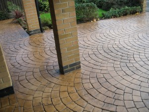 Transform your driveway with stamped concrete.